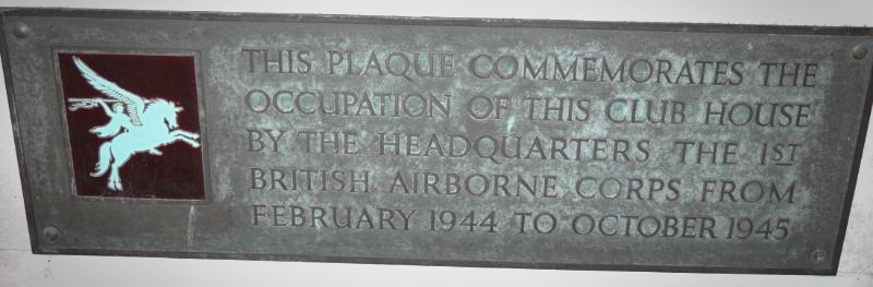 The commemorative plaque at Moor Park, where Arnham was planned during WW2